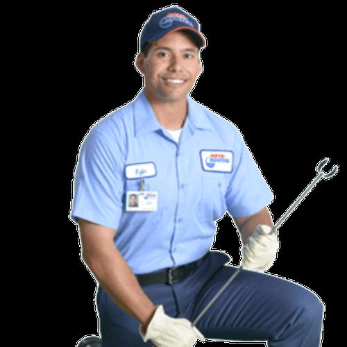 plumber kneeling