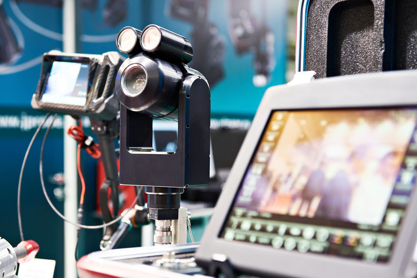 Video endoscope for visual inspection of tanks and pipes